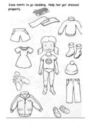 749 FREE ESL clothes worksheets