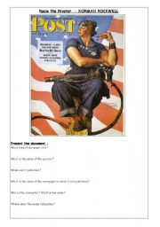 English Worksheets: Rosie the Riveter 1/2