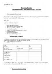 English Worksheets: communicative activities
