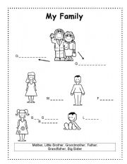 Worksheets English Learners Worksheets english worksheet my family young learners