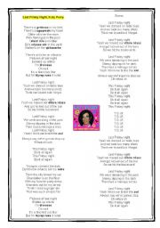 English Worksheet: Katy Perry - Last Friday Night Song