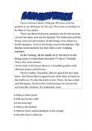 English Worksheet: Flavio from Portugal