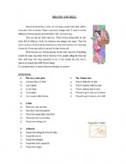 English Worksheets: Heaven and Hell