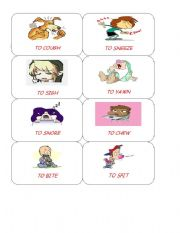 English Worksheets: BODY ACTIONS