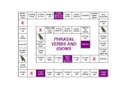 Phrasal verbs - Board game