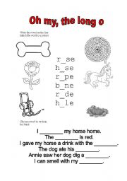 English Worksheets: Oh my, the long o