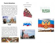 English Worksheet: Russia´s brochure