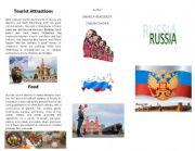 English Worksheet: Russia�s brochure