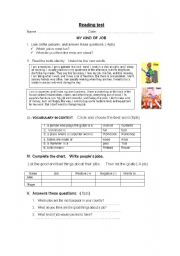 English Worksheets: READING - OCCUPATIONS