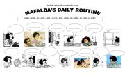 English Worksheet: Mafalda´s Daily Routine