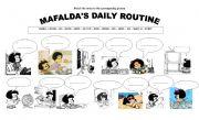 English Worksheets: Mafalda�s Daily Routine