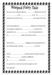 English teaching worksheets: Fairy tales