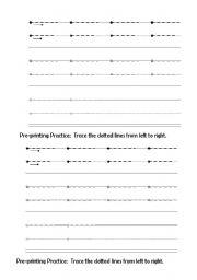 English Worksheets: line tracing
