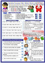English Worksheet: Introduction to the Relative Pronouns Who, Which (& That). 1 Page plus Anwer Key
