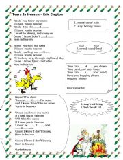 English Worksheet: Tears in Heaven - Second Conditonal