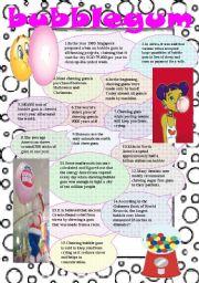 English Worksheets: bubblegum