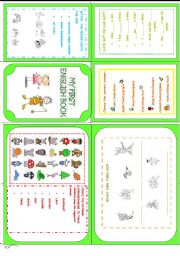English Worksheets: My first English book