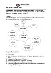 English Worksheet: Character Study �Treasure Island