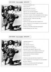 English Worksheets: SOWETO IN FIRE
