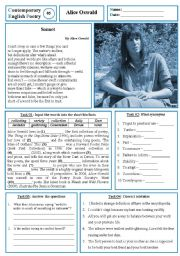 English Worksheets: Contemporary English Poetry 05 - Alice Oswald