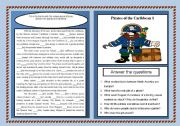 English Worksheets: Real Pirates of the Caribbean (Part 1)