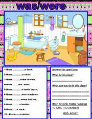English Worksheets: THERE WAS/THERE WERE