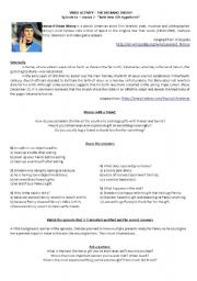 English Worksheet: The Big Bang Theory Video Activity