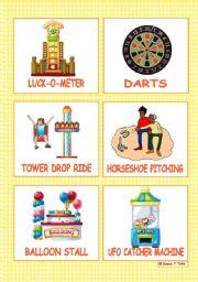 English Worksheet: At the fun-fair - 12 Flashcards - part 2
