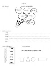 English Worksheets: complete practice for 1st graders