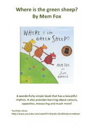 English Worksheet: Where is the green sheep lesson plans (Australian book with YouTube link, a whole page of lesson plan ideas and a poem to read with your children!)