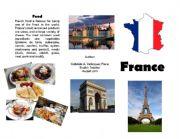 English Worksheet: Brochure about France