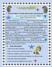 English Worksheets: Umbrallas