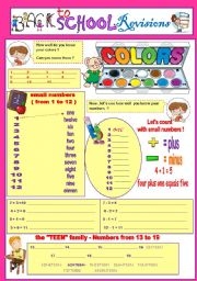 English Worksheet: BACK TO SCHOOL REVISIONS