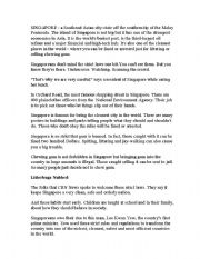 English Worksheets: singapore