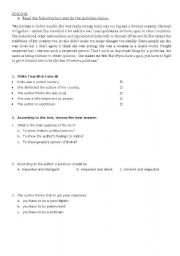 English Worksheets: HEROES - READ AND WORK