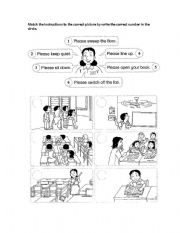 English Worksheets: giving instruction