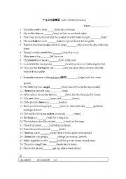 English Worksheet: Intransitive verb practice