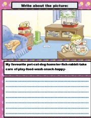 English Worksheets: WRITE ABOUT THE PICTURE