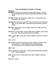 English Worksheets: Tops and Bottoms Readers Theater