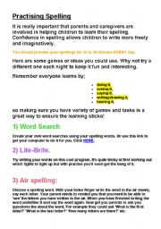English Worksheet: Spelling lesson ideas - 5 pages of ideas!