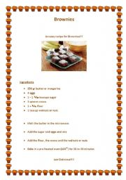 English Worksheets: Brownies
