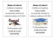 English Worksheets: Graduation templates