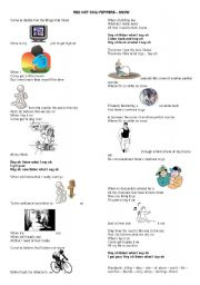 English Worksheets: red hot chili peppers snow song