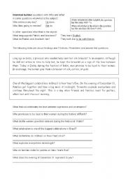 English Worksheets: Questions with WHO and WHAT