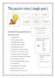 worksheet: passive voice: simple past