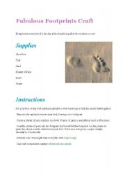 English Worksheets: Fingerprint and footprint activities (from all over the web)