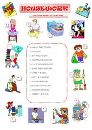 English Worksheet: HOUSEWORK