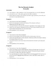 Character analysis essay format