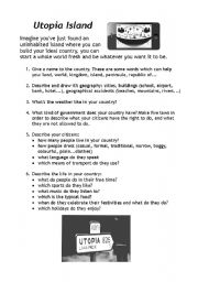 Utopia Island (Vocabulary and Speaking activity) - ESL worksheet by ...
