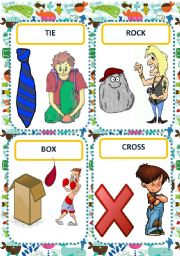 English Worksheet: HOMONYMS FLASH CARDS
